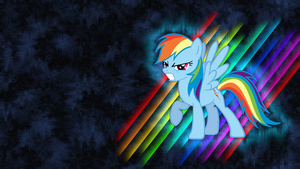 Rainbow Dash Wallpaper by piranhaplant1
