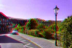 Wernigerode in the Harz mountains ::: Anaglyph 3D by zour