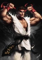 Ryu (Street Fighter Collab Brazil) by giacominiarts