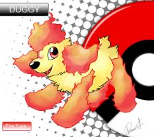FAKEMON - Re-draw - DUGGY by allocen