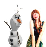 Anna and Olaf by Sina-Rose