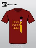 DEVwear T-shirt Pencil People by JesseRayus