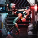 Cyber Vixens - Mission de-breif  by Flame-3d