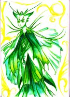 Cloaked Green Faerie by BlazeTheConqueror