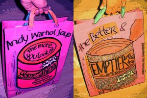 andy warhol soup paperbag by fat-black-heart