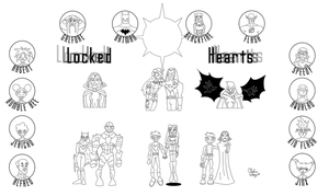 Locked Hearts Final Inks by cthu