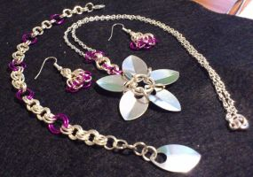 Chainmail Jewelry Set by MariMermaid