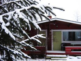 Summer cottage in December by vonderwall