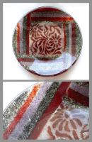 Fused glass plate 4 by Faeriedivine