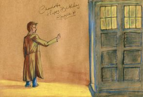 The Doctor and The TARDIS by bollatay