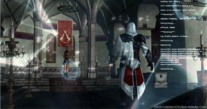 Assassin's Creed - Crossover: Lara Croft vs Ezio by josetemg