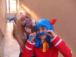We have blue mustaches! by NamiOkamura