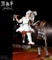 Doll and Joker - On a Wire by ClamWings