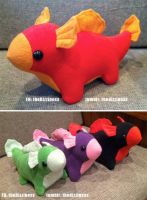 Baby Dragon Plushies by dizziness