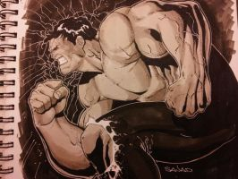 hulk smash with copics by Sajad126