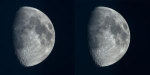 Moon - Lucky Imaging comparison - Night by MaxArceus