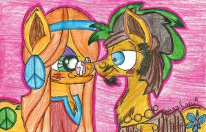 (MLP)Wheat Grass x Flax Seed (Colored) by KrazyKari
