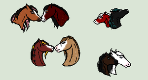 Quick chibi heads by RedOak-Stables