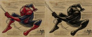 Spidey Duo by BrattyBen