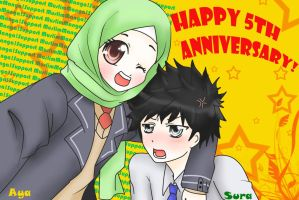 Contest Entry: Muslim-Manga 5th Anniversary by Zhar-nee