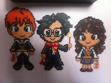 Harry Potter Trio Perler beads by Shandab