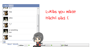 Lukas....You Made Itachi Sad. by JustAlittleScene