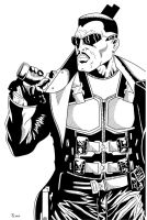 Blade close up Inked by TyndallsQuest