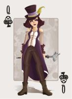 Queen of Clubs - The Femme Fatale by PunchCawa