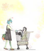 shopping cart rides by alpacasovereign