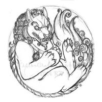 Foo Dog Sketch 2.0 by VisionCrafter