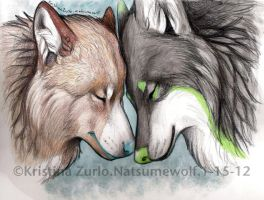 Nose to nose, heart to heart by NatsumeWolf