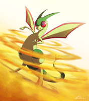 Pokemon Challenge Day 3 - Dragon - Flygon by AliceParkes
