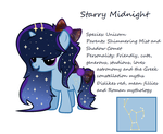 MLP OC - Starry Midnight by HowlingWolf64