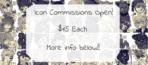 Icon Commissions Open ($15 or 1500 points) by 3o2