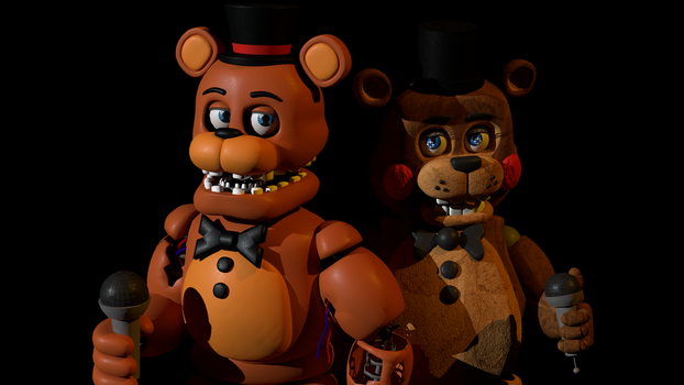 FNAF 2 Render - Something doesn't feel right by Dweebnut