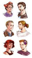 AVENGERS - head accessories! by FerioWind