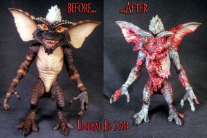 Zombie Gremlin Before and after by Undead-Art