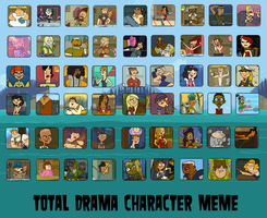 Td Character Meme Blank- All 54 Characters by DaJoestanator