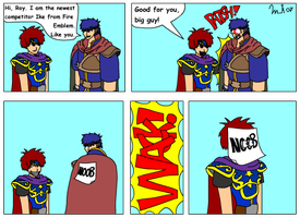 Ike Enters Super Smash by Kurvos