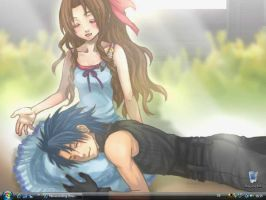 aerith and zack again by misavicious