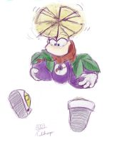 Rayman and plums by Tulidragon