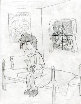 Time Clown comic drawing by TimeClown