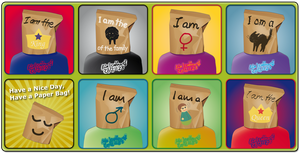 Have a Nice Day, Have a Paper Bag. Set 4 by catferret