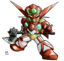 SD Shin Getter 2004 by Mintyrobo