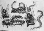 War centipedes by T-Nightingale