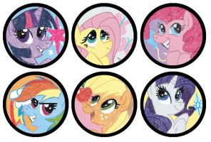 Pony Buttons by water-wing
