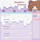 Maddie-Pie journal skin by Meinona