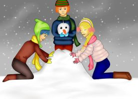 Building a snowman by NINO332