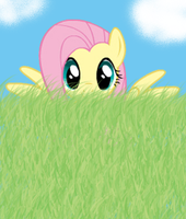 Fluttershy Hiding by Ayleia-The-Kitty