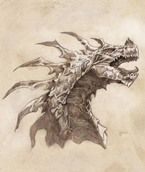 Dragon sketch by NathanRosario